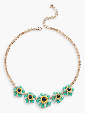 Cabochon Flower Necklace