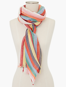 Fringed Stripes Scarf