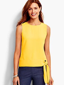 Side-Tie Crepe Top