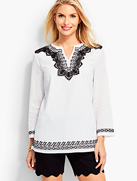 Lace & Embroidered Tunic