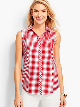 The Perfect Sleeveless Shirt - Gingham