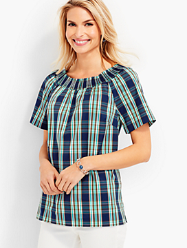 Modern Plaid Top