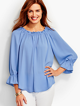 """Off-The-Shoulder"" Blouse"