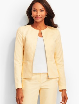 Lightweight Twill Zip-Front Jacket