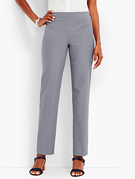 Summer Cotton Side-Zip Ankle Pant