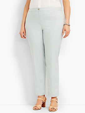 Star Dobby-Weave Fly-Front Ankle Pant
