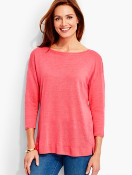 Back-Tie Linen Sweater