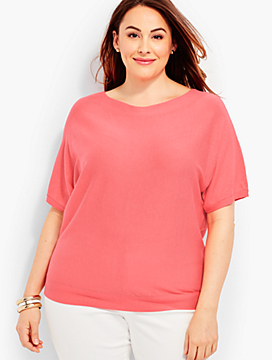 Dolman Sleeve Sweater - Fashion Colors