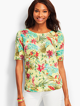 Floral Palms Sweater