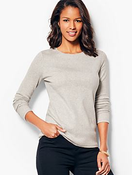 Long-Sleeve Crewneck Tee-Greystone Heather