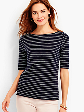 Back-Tie Tee - Bradbury Stripes