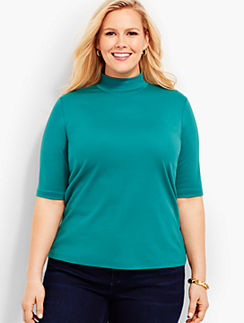 Woman Exclusive Mock Neck Shirt