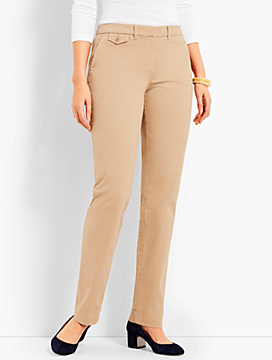 Peached Sateen Straight-Leg Pant-Curvy