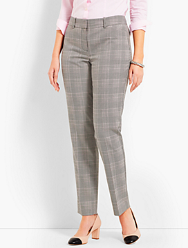 Talbots Hampshire Straight Ankle - Curvy Fit/Glen Plaid