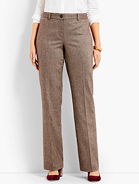 Talbots Windsor Wide-Leg Pant - Curvy Fit/Herringbone