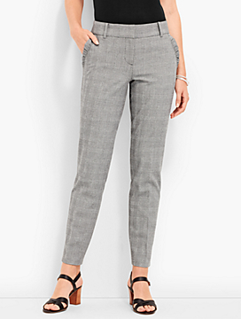 Ruffled Slim Ankle - Prince of Wales Plaid