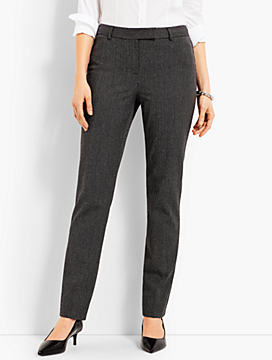 Bi-Stretich High-Waist Straight-Leg Pant - Twisted Dots