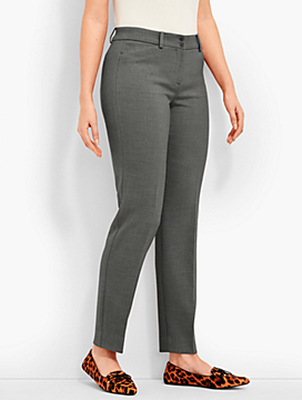Talbots Hampshire Straight-Leg Ankle - Curvy Fit/Double-Crepe