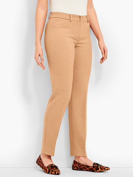 Talbots Hampshire Straight-Leg Ankle - Double-Crepe - Curvy Fit