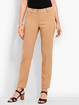 Talbots Hampshire Straight-Leg Ankle - Double-Crepe