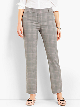 Talbots Hampshire Straight Ankle- Glen Plaid