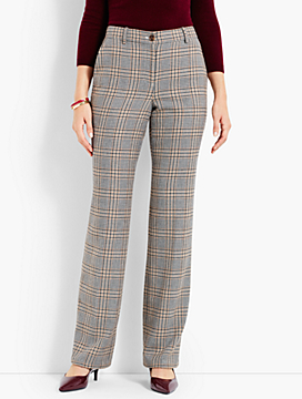 Talbots Windsor Wide-Leg Pant - Glen Plaid