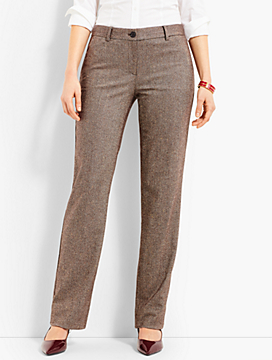 Talbots Windsor Wide-Leg Pant - Herringbone