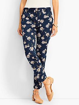 Ruffled Slim Ankle - Daisies