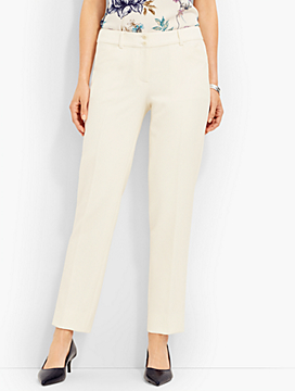 Talbots Hampshire Straight-Leg Ankle - Double-Cloth Ivory