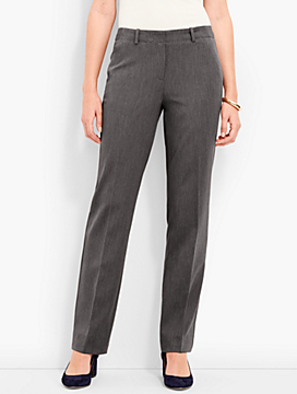 Refined Bi-Stretch Fly-Front Straight-Leg Pant