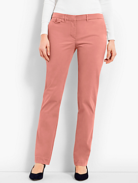 Peached Sateen Straight-Leg Pant