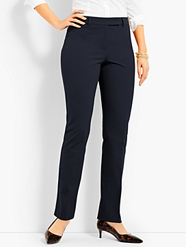 Bi-Stretch High-Waist Straight-Leg Pant - Curvy