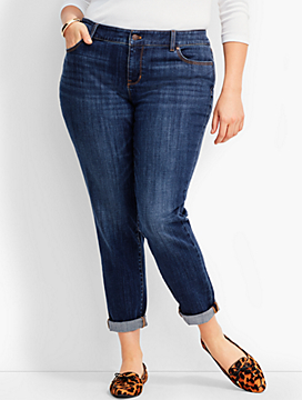 Womans Exclusive Denim Boyfriend Ankle - Sierra Wash