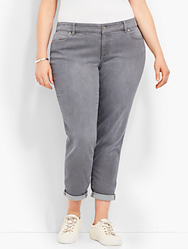 Denim Boyfriend Ankle - Earl Grey
