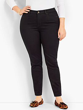 Denim Jegging Ankle-Black