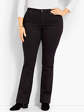 Denim Bootcut Full-Length - Black