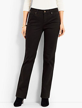 Luxe Denim Bootcut Full-Length - Black