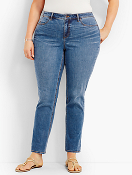 The Flawless Five-Pocket Straight-Leg - Curvy Fit/Lagoon Wash