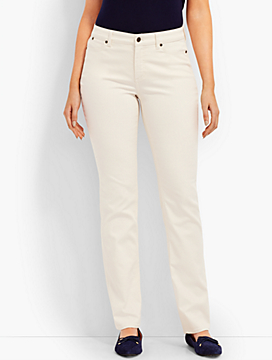 The Flawless Five-Pocket Straight-Leg - Curvy Fit/Vanilla