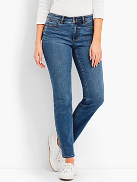 The Flawless Five-Pocket Ankle-Curvy Fit/Lagoon Wash