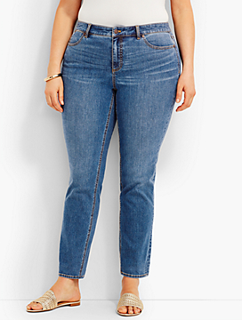 The Flawless Five-Pocket Ankle - Lagoon Wash