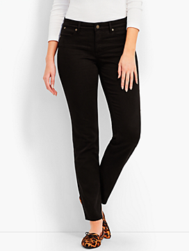 Black Denim Slim Ankle - Curvy Fit