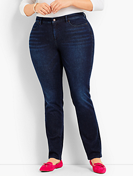 Denim Straight Leg-Curvy Fit/Empire Blue Wash