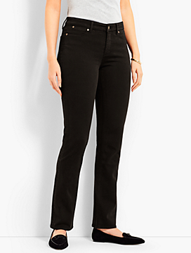 Denim Straight Leg-Curvy Fit/Black