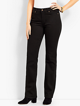 High Rise Barely Boot Jeans-Curvy Fit/Black