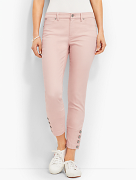 Four-Button Denim Slim Ankle - Light Rosewater