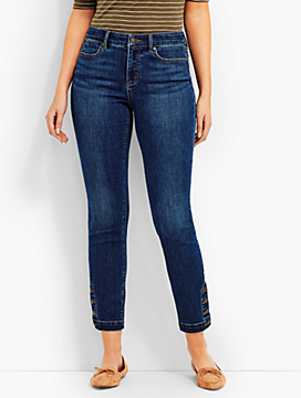 Four-Button Denim Slim Ankle-Curvy Fit/Georgia Wash