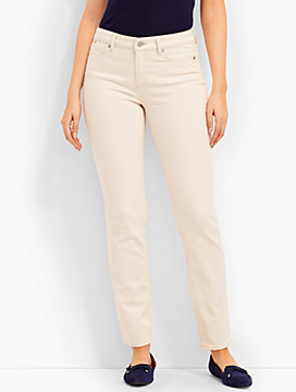The Flawless Five-Pocket Ankle-Curvy Fit/Natural Denim