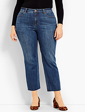 Frayed-Hem Straight-Leg-McCully Wash
