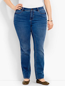 Woman Exclusive Luxe Stretch Denim Straight-Leg - Dawson Wash